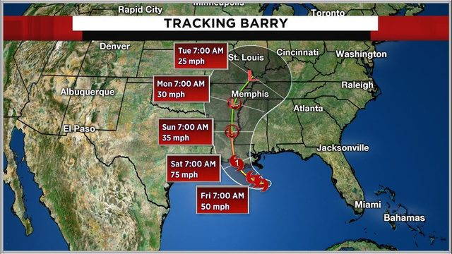 Tracking the tropics: Tropical Storm Barry forms in Gulf; cone does not…