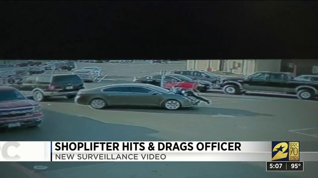Shoplifter hits and drags officer
