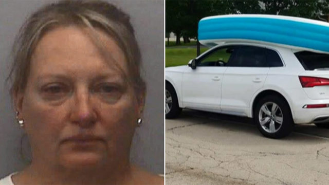 Mom facing charges after allowing her daughters ride in pool atop her…