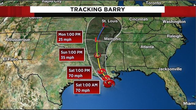 Tracking the tropics: Tropical Storm Barry continues slow march north…