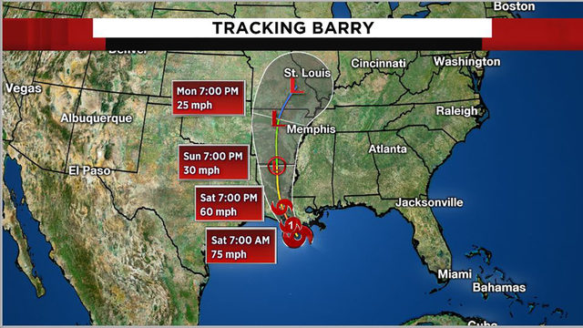 Tracking the tropics: Tropical Storm Barry to make landfall Saturday morning