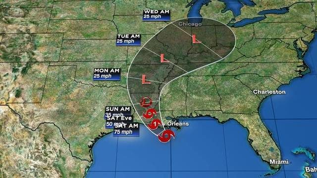 Tracking the tropics: Tropical Storm Barry's winds increasing as it…