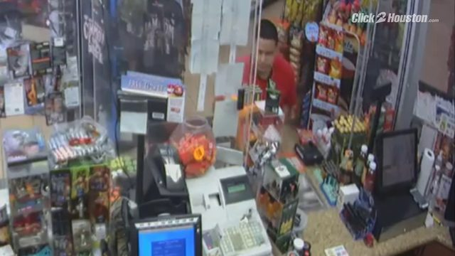 Surveillance video of man stealing lottery tickets