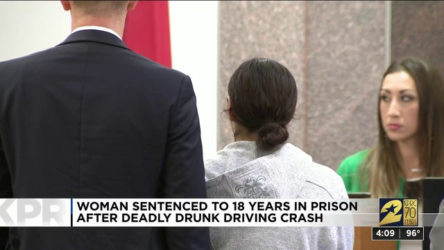 Woman sentenced to 18 years in prison after deadly drunk driving crash