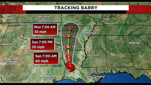 Tracking the tropics: Weakened Tropical Storm Barry rolls into…
