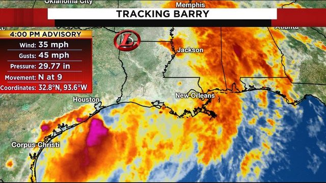 Tracking the tropics: Barry downgrades to tropical depression as winds…