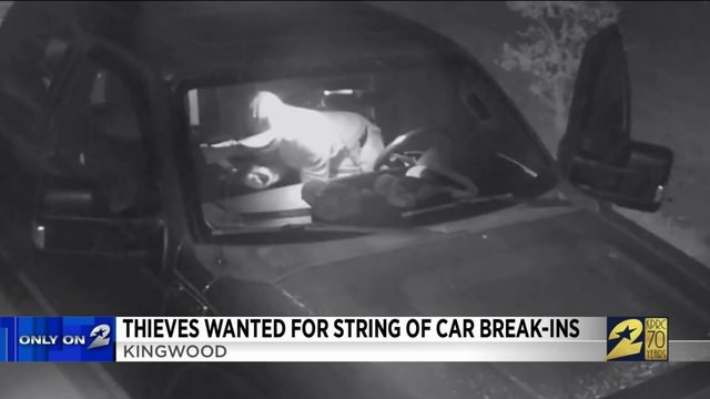 Thieves Wanted for String of Car Break-Ins