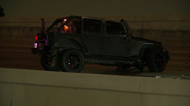 Katy Freeway shut down after fatal rollover crash