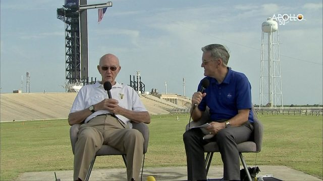 Apollo 11 astronaut Michael Collins returns to launch pad 50 years later