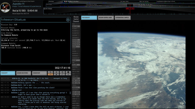 Out of this world: Website lets you relive the Apollo 11 mission in real time