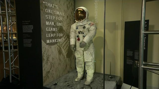 Neil Armstrong's spacesuit on display at Smithsonian