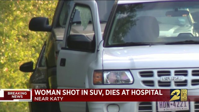 Woman shot in SUV, dies at hospital