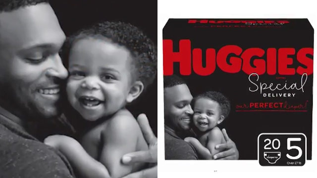 ADORABLE: Diaper company featuring dads for first time in ads, packaging