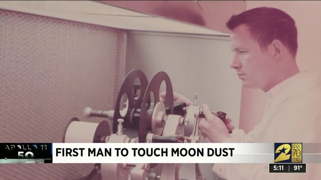 NASA photographer was first man to touch moon dust