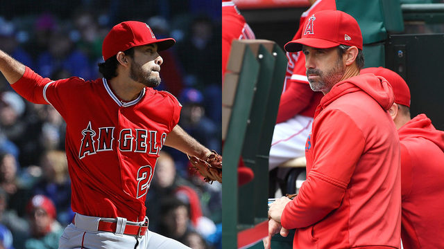 Angels pitcher, manager suspended for throwing pitch at Jake Marisnick's head
