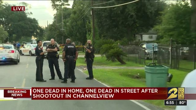 One dead in home, one dead in street after shootout