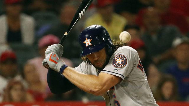 Angels, Astros players nearly come to blows after Marisnick hit with pitch