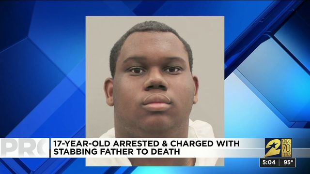 17-year-old arrested and charged with stabbing father to death