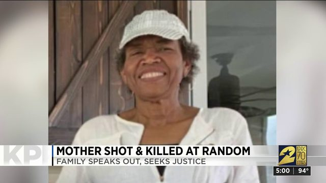Mother shot and killed at random