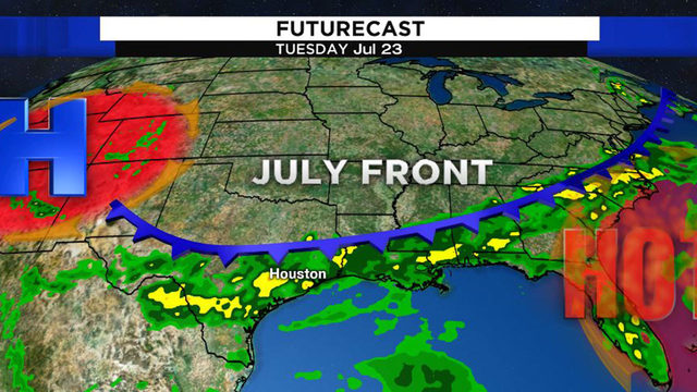 Small break from Houston's blazing heat could arrive by next week
