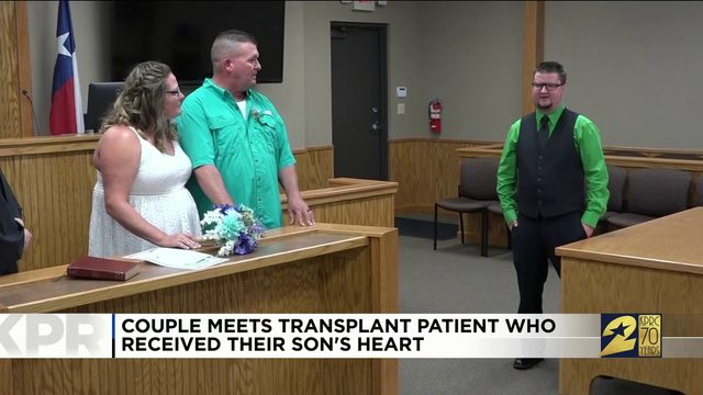 Couple meets transplant patient who received their son's heart