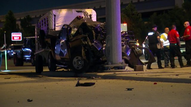 3 horses killed when drunken driver slams truck into light pole near…
