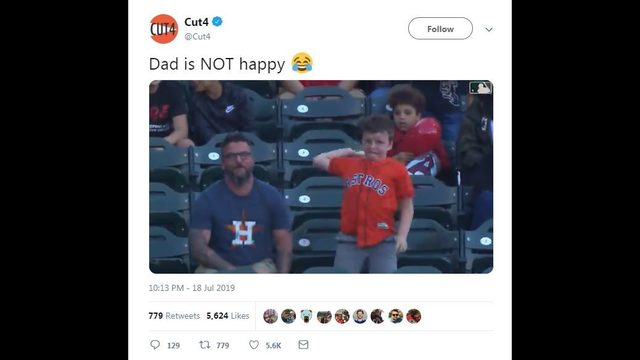 VIDEO: Watch dad's face as son throws away Alex Bregman's home run ball
