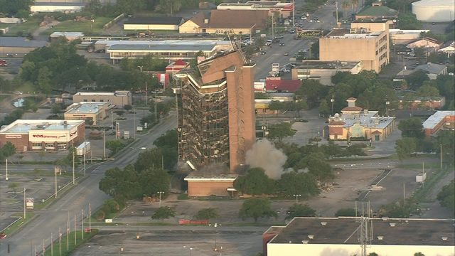 Gone in a flash: First Pasadena State Bank tower imploded