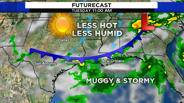 Cold front in July? Storms to be followed by relief from humidity