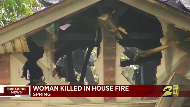 Woman Killed in Spring House Fire