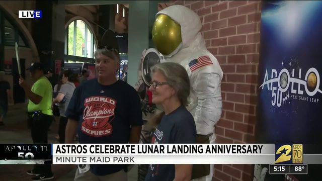 Astros celebrate lunar landing anniversary