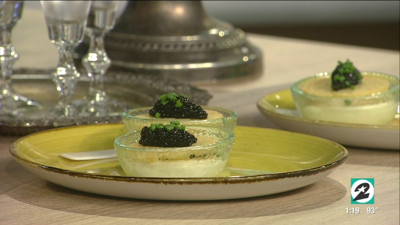 Derrick and Courtney sample Caviar Cicchetti from Houston