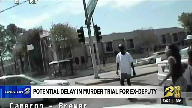 Potential delay in murder trial for ex-deputy