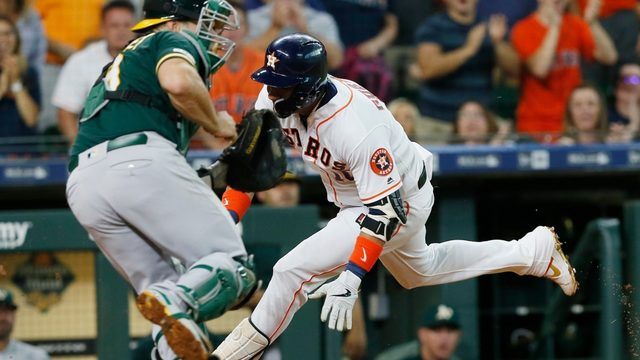 Astros fall to A's 4-3 in extra innings