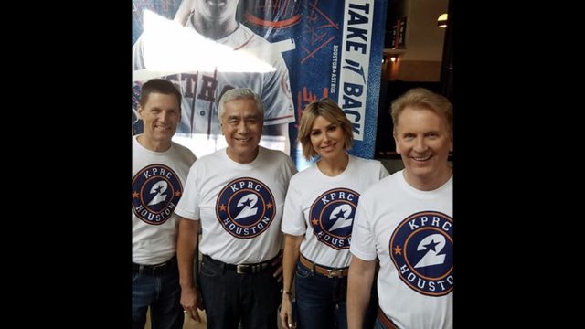 This is how KPRC 2 celebrated at the Houston Astros game tonight