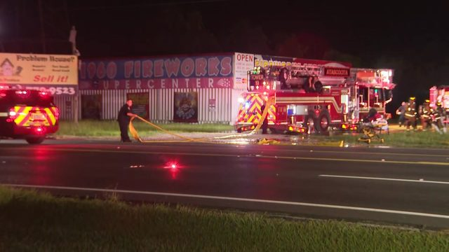 Investigation underway after firework stand fire in Humble