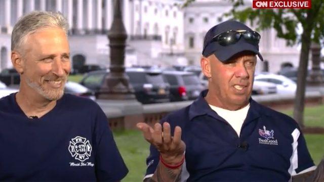 Jon Stewart, Jon Feal discuss congressional actions on 9-11 survivors