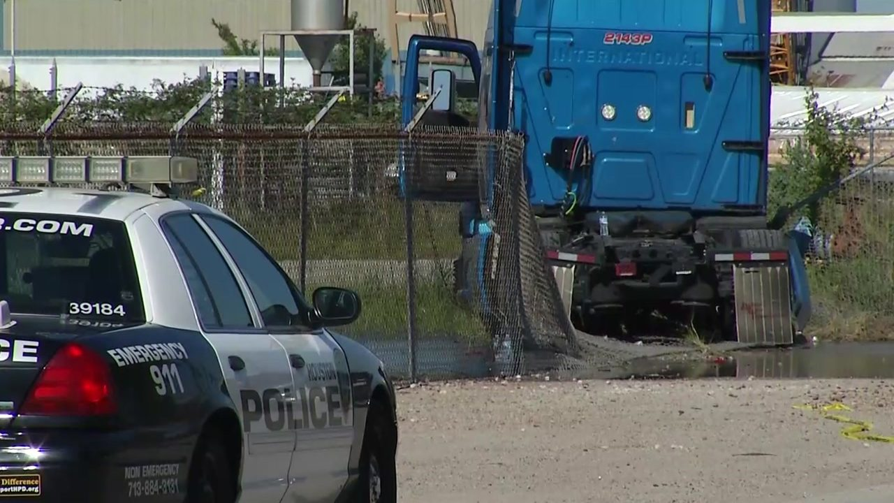 Police: Worker may lose legs after truck driver dies while