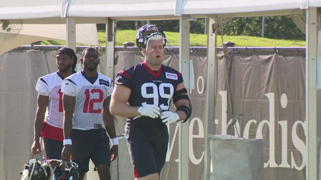 Camp Texans Day 1: Watt ready to roll as active participant