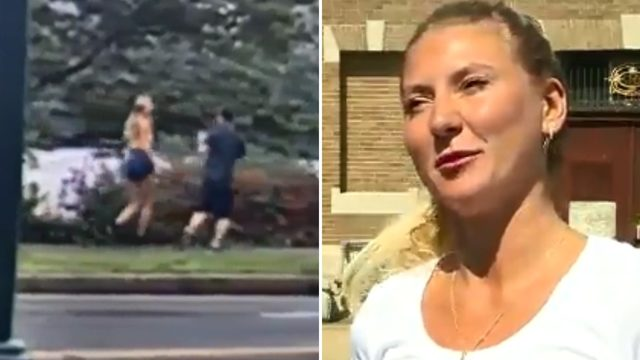 'I'm going to get you, darling': Former military mom pins man who flashed her
