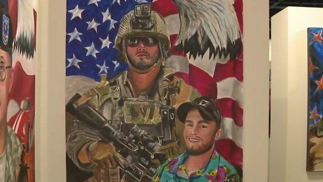 Portrait to honor fallen soldier