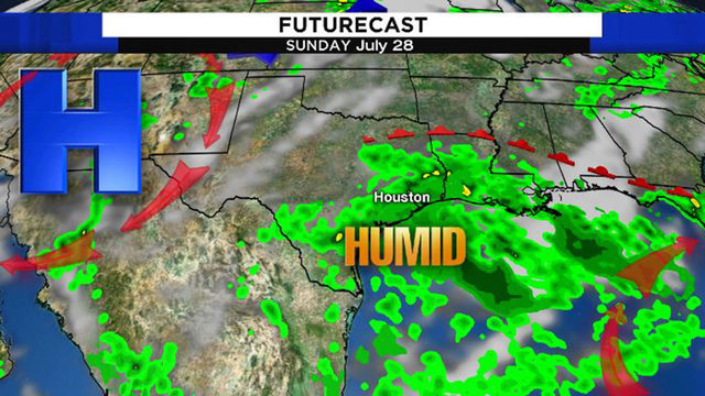 Houston's weather turns muggy, damp this weekend