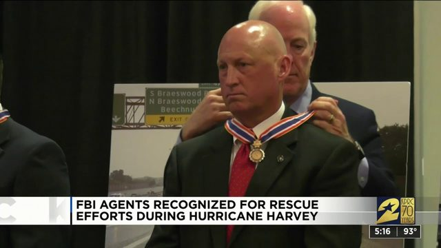 FBI agents recognized for rescue efforts during Hurricane Harvey