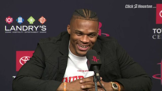 Westbrook on Houston: 'It's hot as hell!'