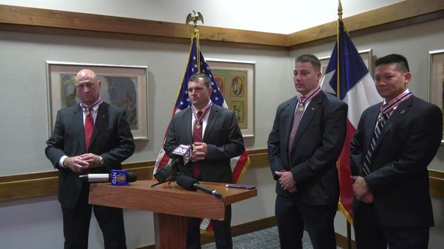 4 FBI agents recognized for rescue efforts during Hurricane Harvey