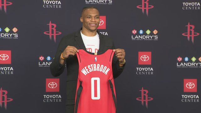 'Our one goal is to win a championship': Rockets introduce Russell…
