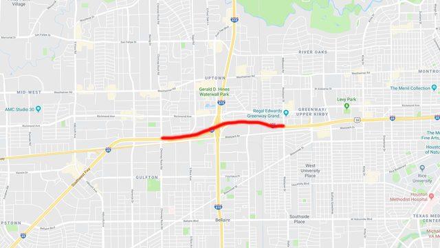 Major closure planned for Southwest Freeway at West Loop this weekend