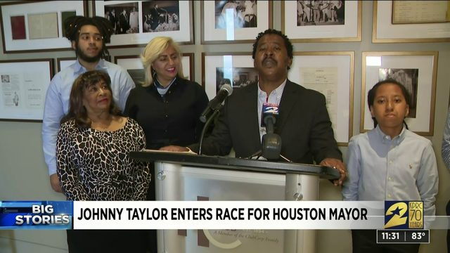 Johnny Taylor enters race for Houston mayor