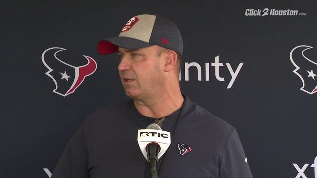 Texans head coach Bill O'Brien on Cullen Gillaspia