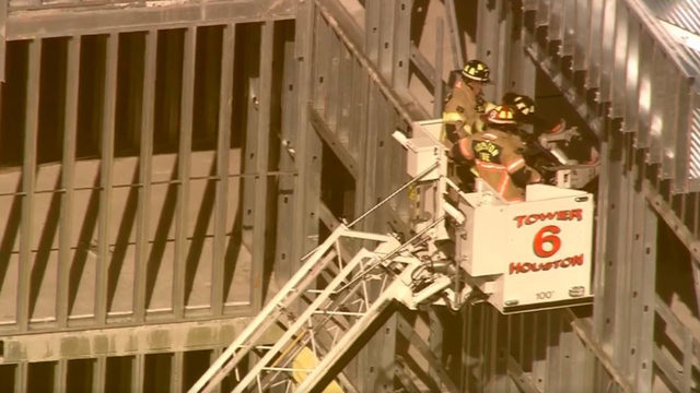 9 hospitalized after partial collapse of hotel under construction, HFD says